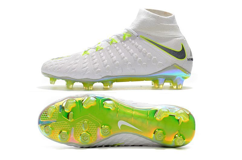 a147504db Nike Hypervenom Phantom III DF FG Cleats White Volt Grey Nike Football, Football  Shoes,