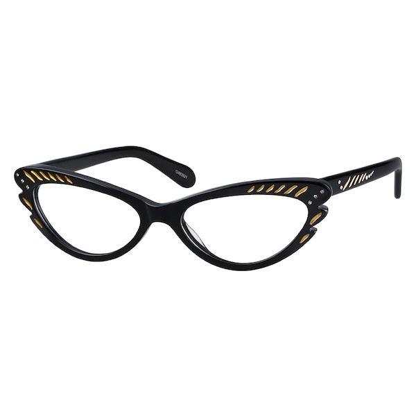 a5f9aeb0b4 Zenni Womens Cat-Eye Prescription Eyeglasses Black Plastic 12483921