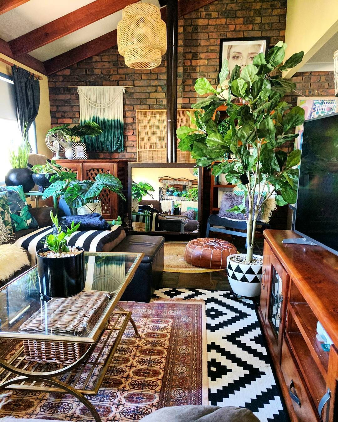 Simple Foliage Living Room Ideas For Summer That Make Coolest House 66