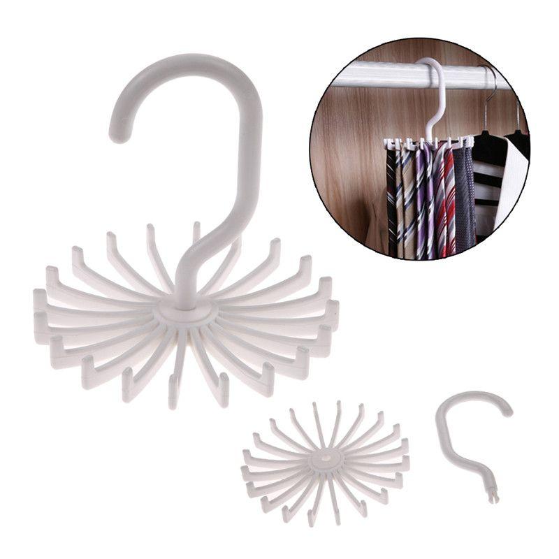 Nuova Casa Appendini & Rack Rotante Tie Rack Armadio Tie Gancio Contiene 20 Collo Cravatta Sciarpa Gancio Organizzatore