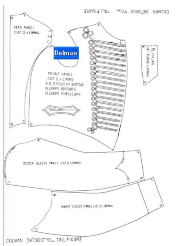 Dolman pattern Hussar costume ...