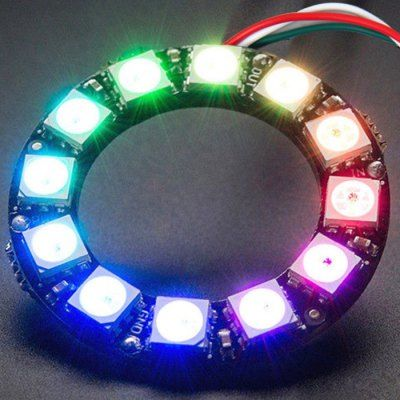 Led Ring 12 X Ws2812 5050 Rgb Led Ring Lamp Sp002e Controller Dc 5v Led Drivers Rgb Led Led