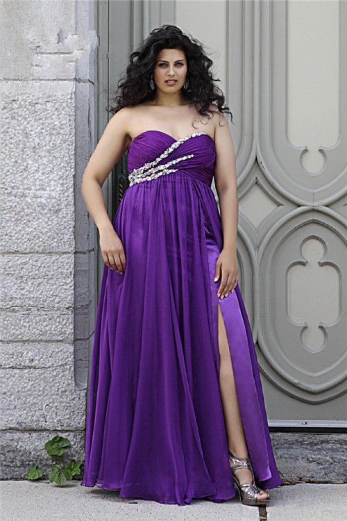 Plus Size Lavender Evening Gowns
