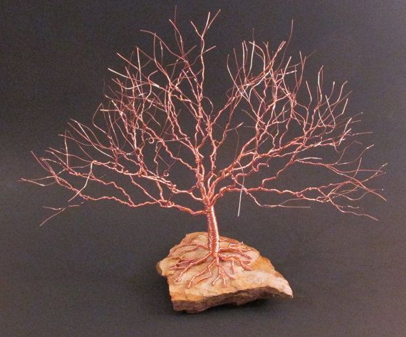 Made Of Copper Wire This Tree Of Life Is Handcrafted From