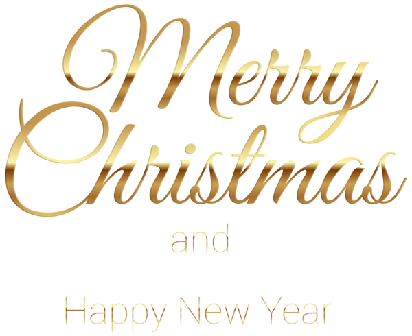 Merry Christmas Gold Transparent PNG Clip Art
