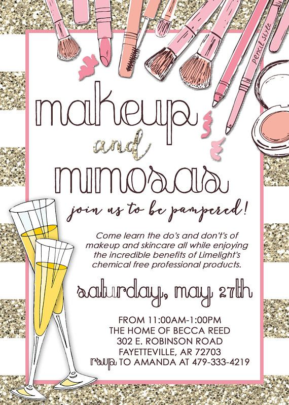 Limelight Makeup Party Invitation Mary Kay Lipsense Consultant