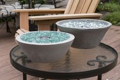 How to Make a DIY Tabletop Fire Pit #diyfirepit