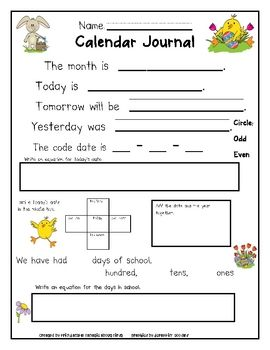 August June Calendar Journal Editable Teaching School