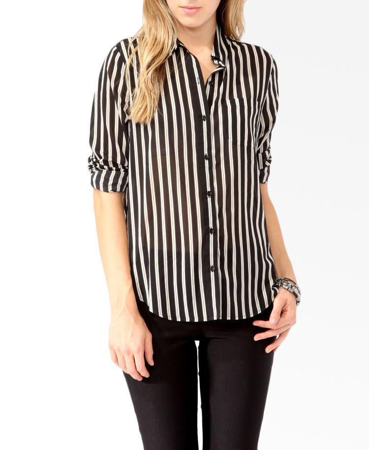2019 New Style 2018 New Hot Women Casual Loose Stand Vertical Stripes Short Sleeve Shirt Latest Technology Blouses & Shirts