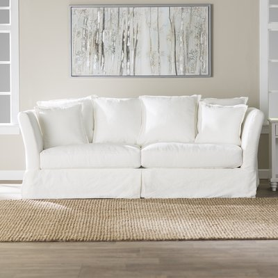 Fairchild Slipcovered Cotton 90 Flared Arm Sofa In 2020 Bank