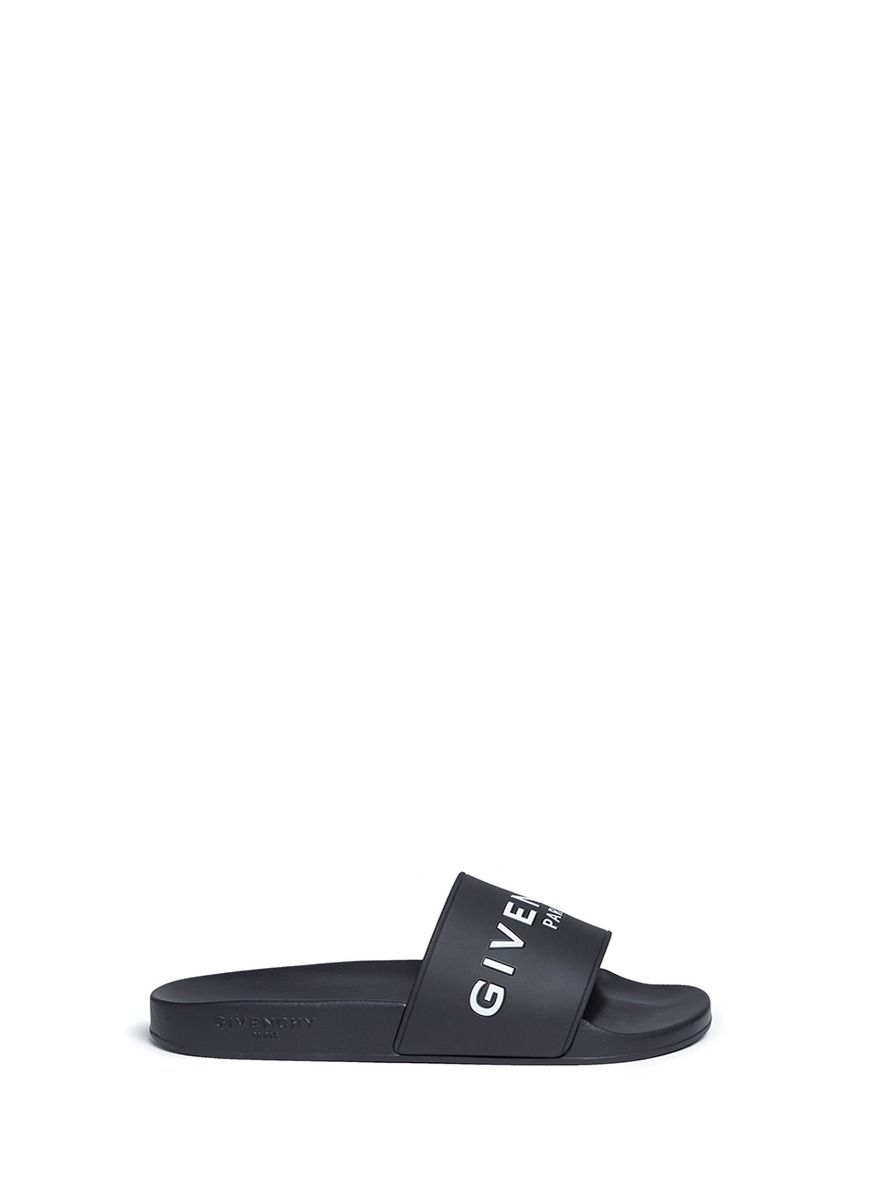 1a7d2cd4c27e GIVENCHY Logo Print Rubber Slide Sandals.  givenchy  shoes  sandals ...