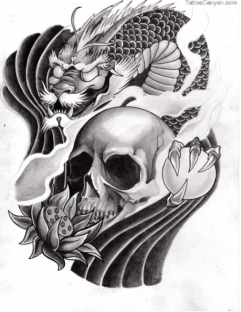 Japanese Mask Tattoos 3 Free Download Tattoo 2669 Picture 11927 Japanese Tattoo Dragon Tattoo With Skull Japanese Dragon Tattoo