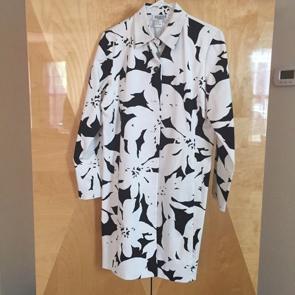 Dress coat White and black print dress coat Jackets & Coats