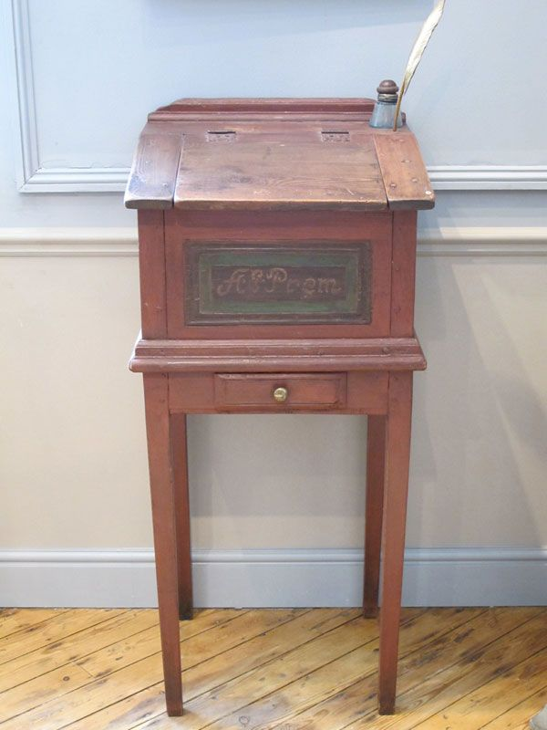 Unusual 19th Century Painted Swedish Desk A Very Unusual 19th