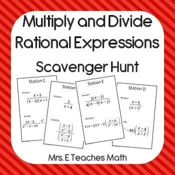 math worksheet : multiply and divide rational expressions scavenger hunt  algebra  : Multiplication And Division Of Rational Expressions Worksheets