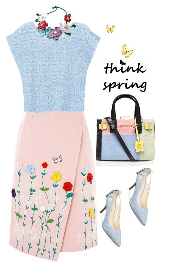 """""""Think Spring'"""" by dianefantasy ❤ liked on Polyvore featuring VIVETTA, Marc Fisher, Kurt Geiger, women's clothing, women, female, woman, misses, juniors and SpringStyle"""