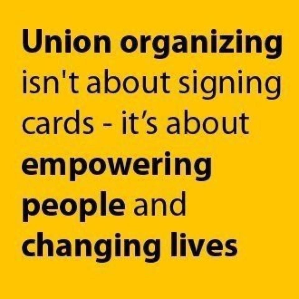 union organizing The profound defeat of the us labor movement over the past three to four decades is usually measured by the loss of things that workers once took for granted like decent wages and benefits a less quantifiable but ultimately more decisive indicator is the retreat from possibilities by extension, the labor.