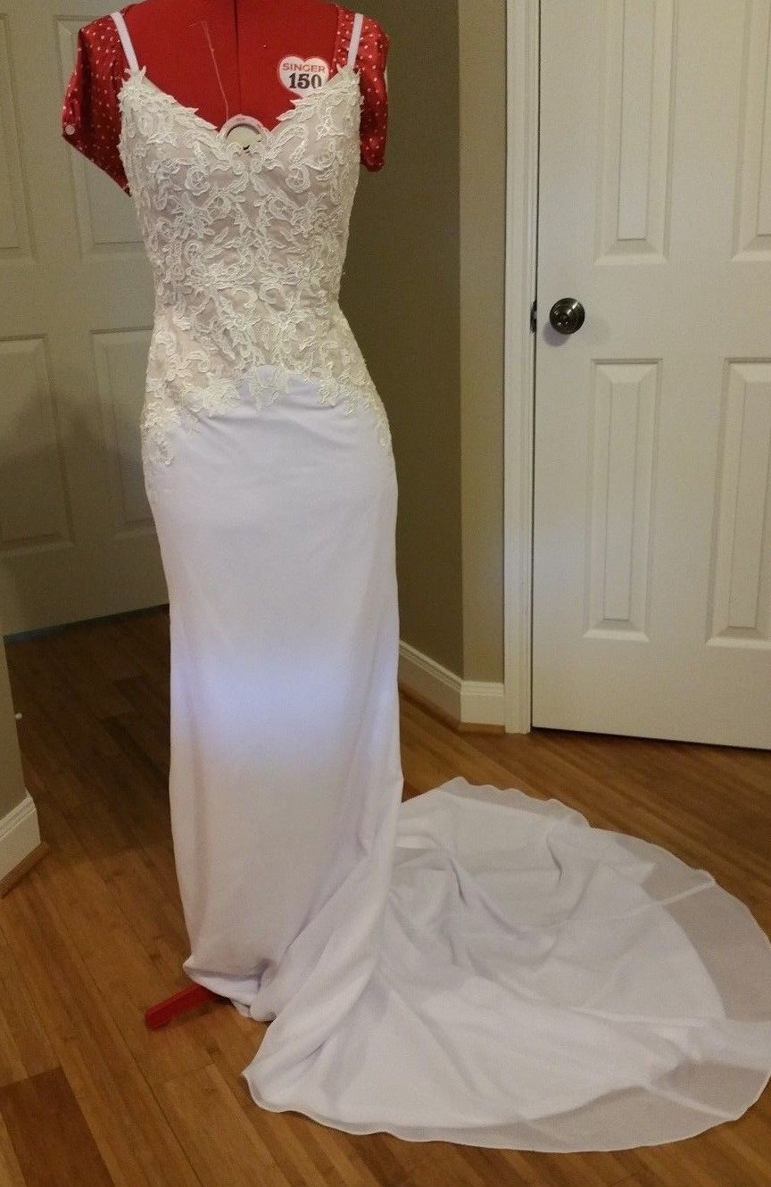 Size 6 wedding dress    Trumpet Mermaid Sweetheart Chapel Train Chiffon Wedding