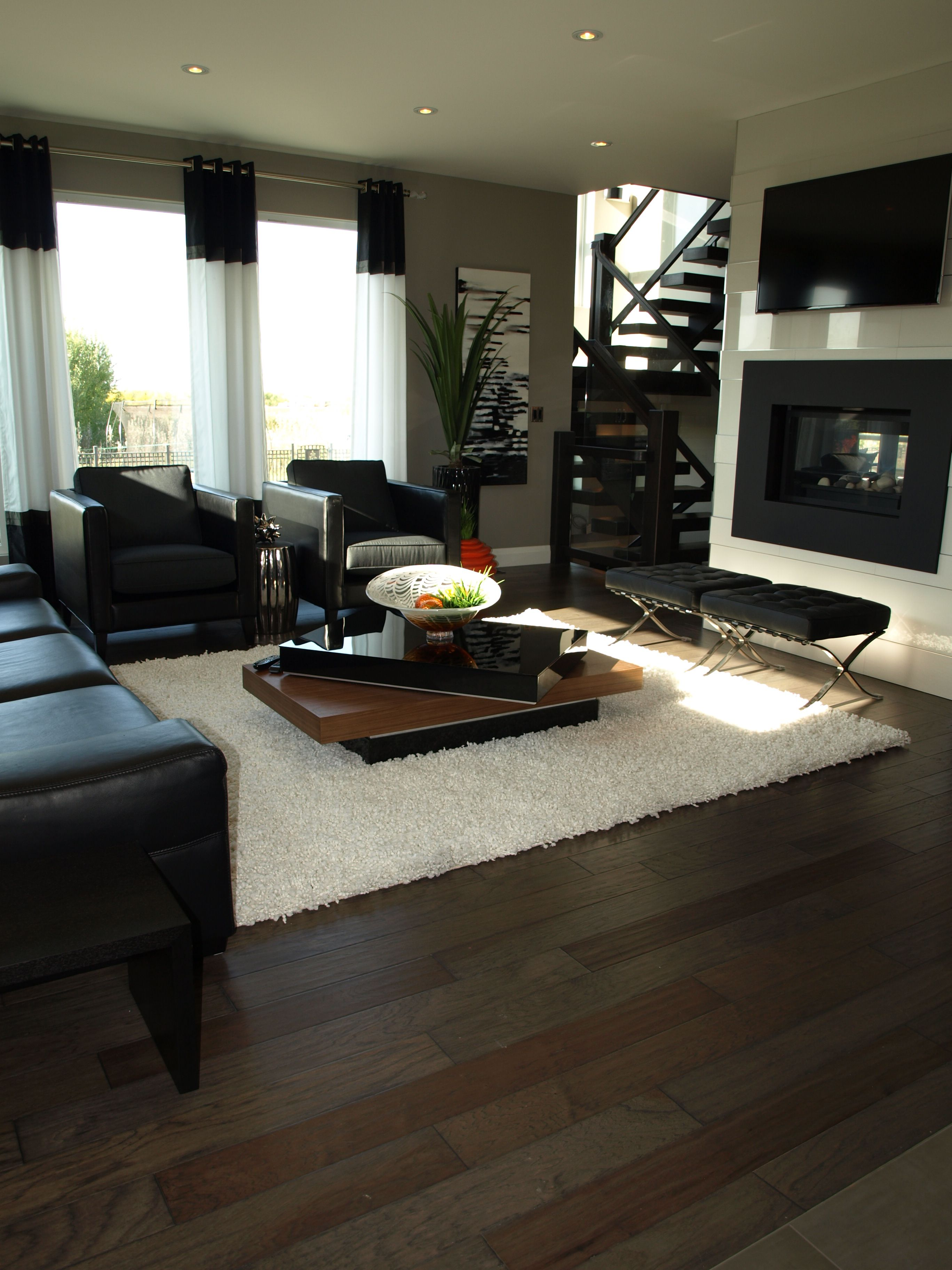 This Modern Living Room Almost Has A Bachelor Type Feel To It, With All The