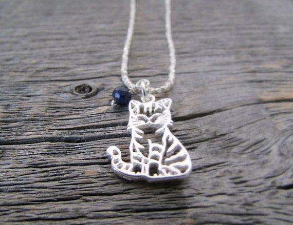 crazy cat lady necklace cat lady jewelry kitty by earthwatersol