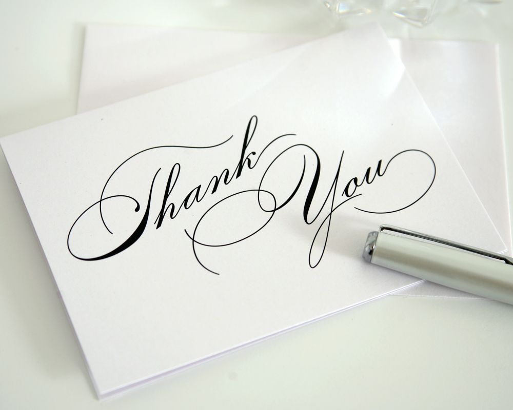 The Power Of A Handwritten Thank You Card  Handwritting