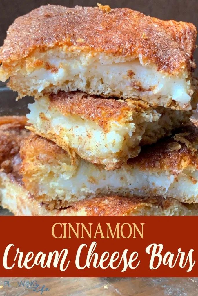 Cinnamon Cream Cheese Bars Plowing Through Life Cream