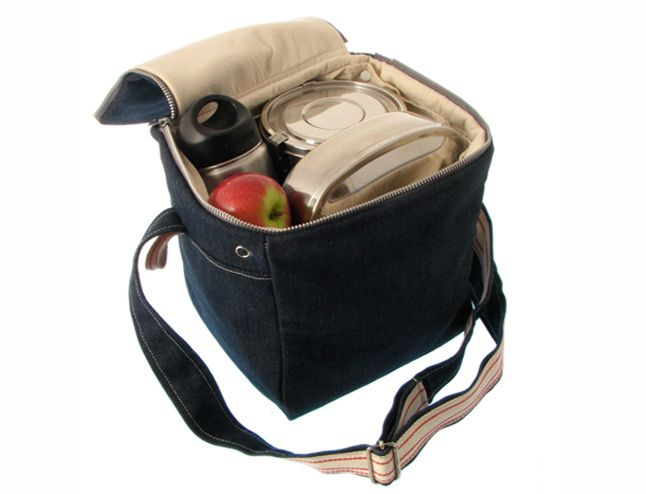 Plastic Free Wool Insulated Lunch Bag