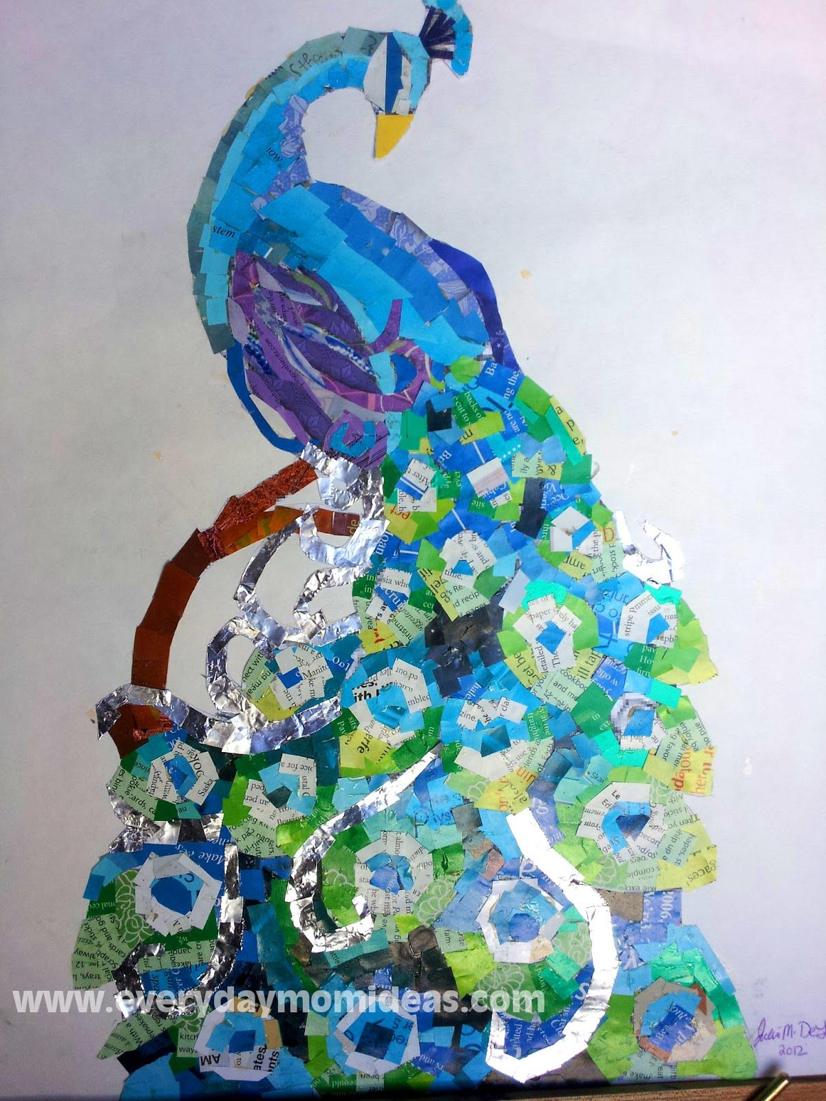 Everyday mom ideas from trash to treasure mosaic for Art from waste ideas
