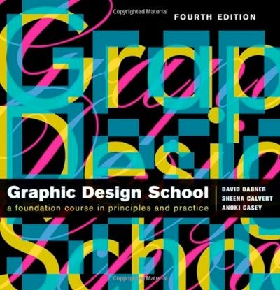 The New Graphic Design School A Foundation Course in Principles and Practice.  Graphic Design School is a foundation course for graphic designers working in print, moving image, and digital media.    Practical advice on all aspects of graphics design-from understanding the basics to devising an original concept and creating successful finished designs.  Examples are taken from all media-magazines, books, newspapers, broadcast media, websites, and corporate brand identity.