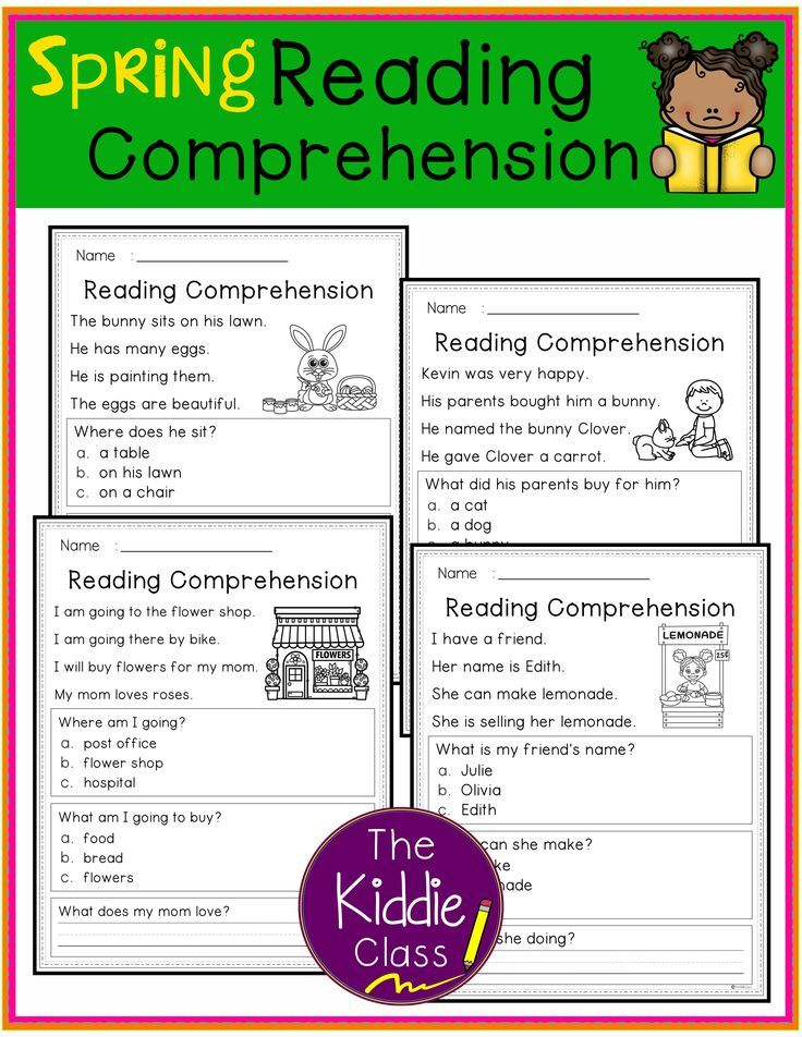 Reading Comprehension Spring Edition Reading
