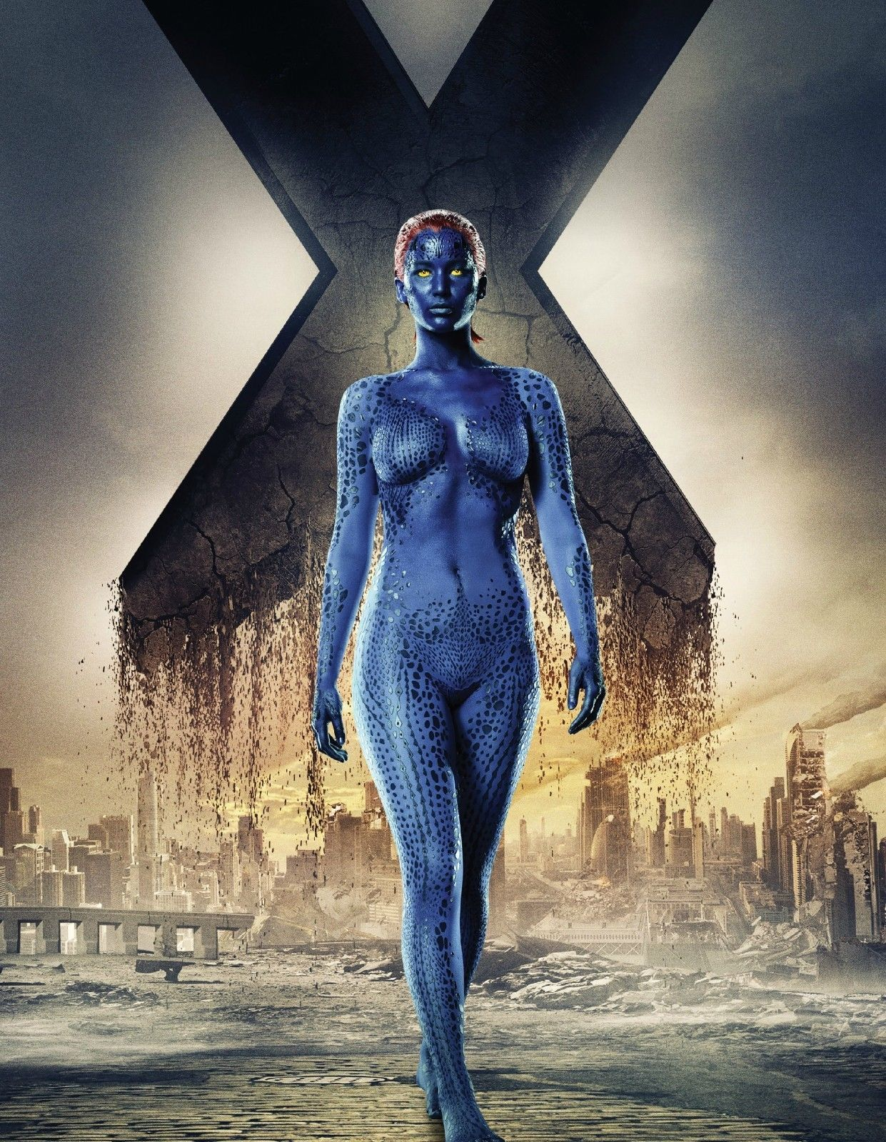 Marvel X-Men Days of Future Past Mystique Lawrence Wall Poster HD 24x36 inches