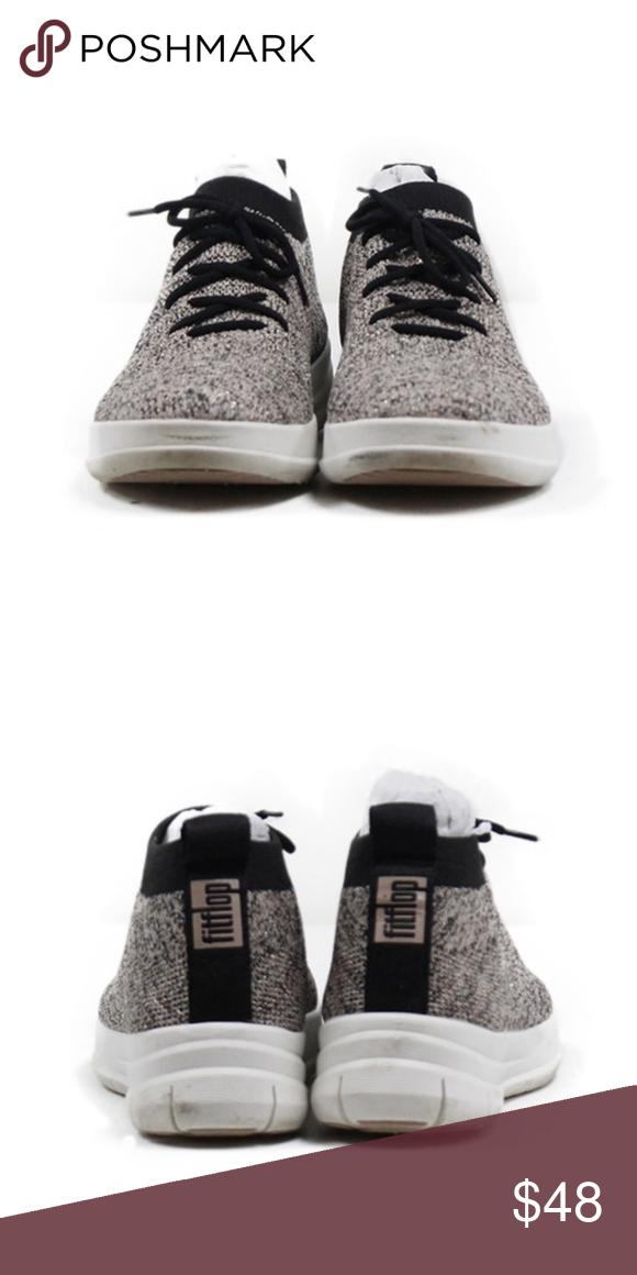 5fa484e565d646 Fit Flop Uberknit Sneaker - Black Nude Metallic Fit Flop Uberknit Sneaker -  Black