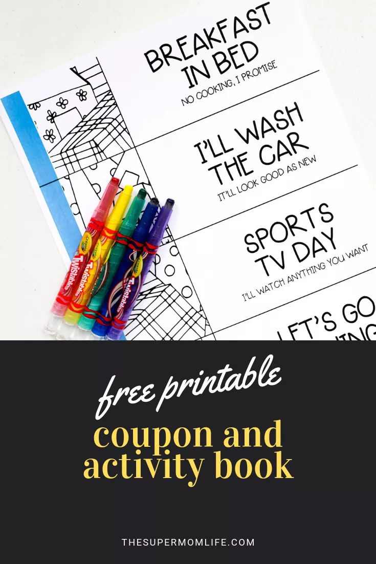 Super Dad Coupon And Activity Book With Free Printable The Super Mom Life Homemade Fathers Day Gifts Diy Father S Day Gifts Father S Day Diy