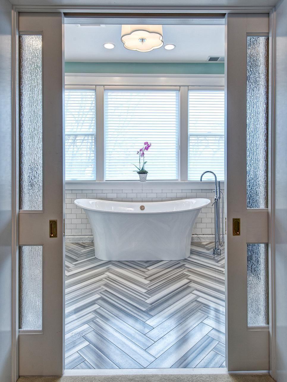 small double pocket doors. Bathroom Gets Elegant, Eclectic Remodel. FlooringBathroom DoorsBathroom Pocket Small Double Doors