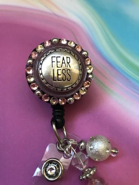 Fearless Badge Clip  Inspirational Badge Reel  ID by ForTheLovetlc