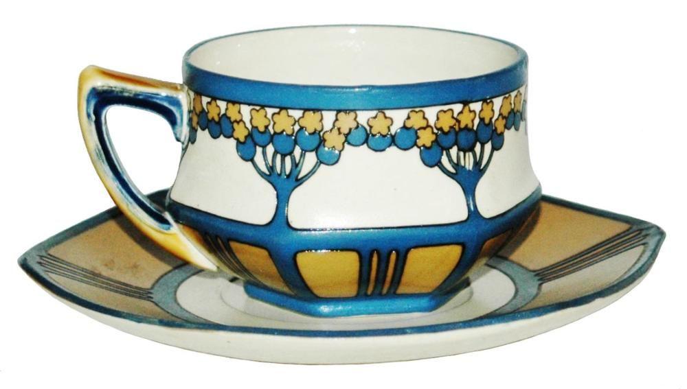 Vintage Rennie Mackintosh par de tazas de café de 4 1//4 pulgadas
