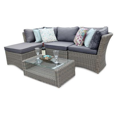huge selection of a603b b998b DECO Alfresco Tri-weave 5 Piece Corner Sofa Set | Wayfair UK ...