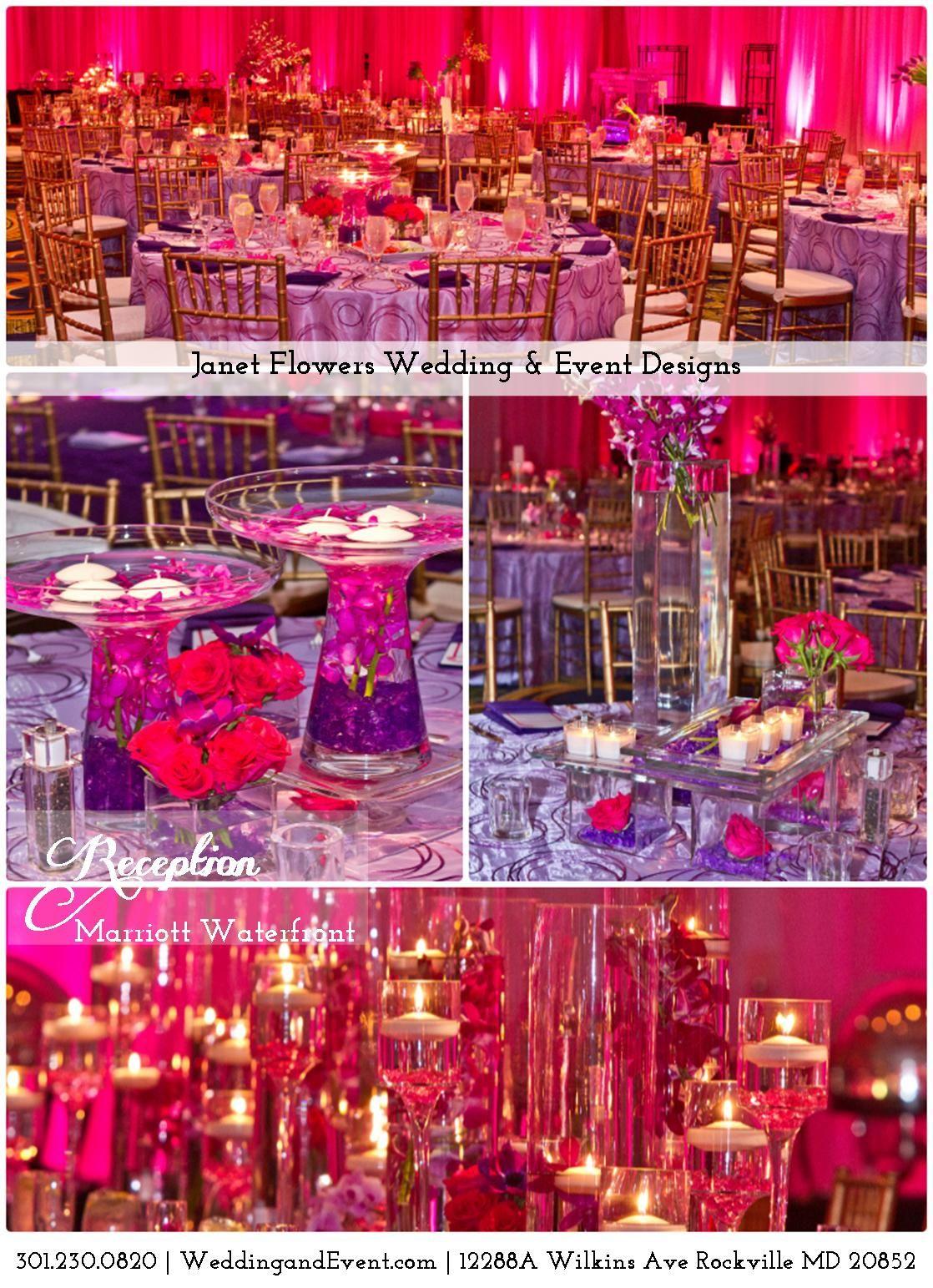 Reception - Marriott Waterfront | Reds, Hot Pinks, Purples | Janet ...