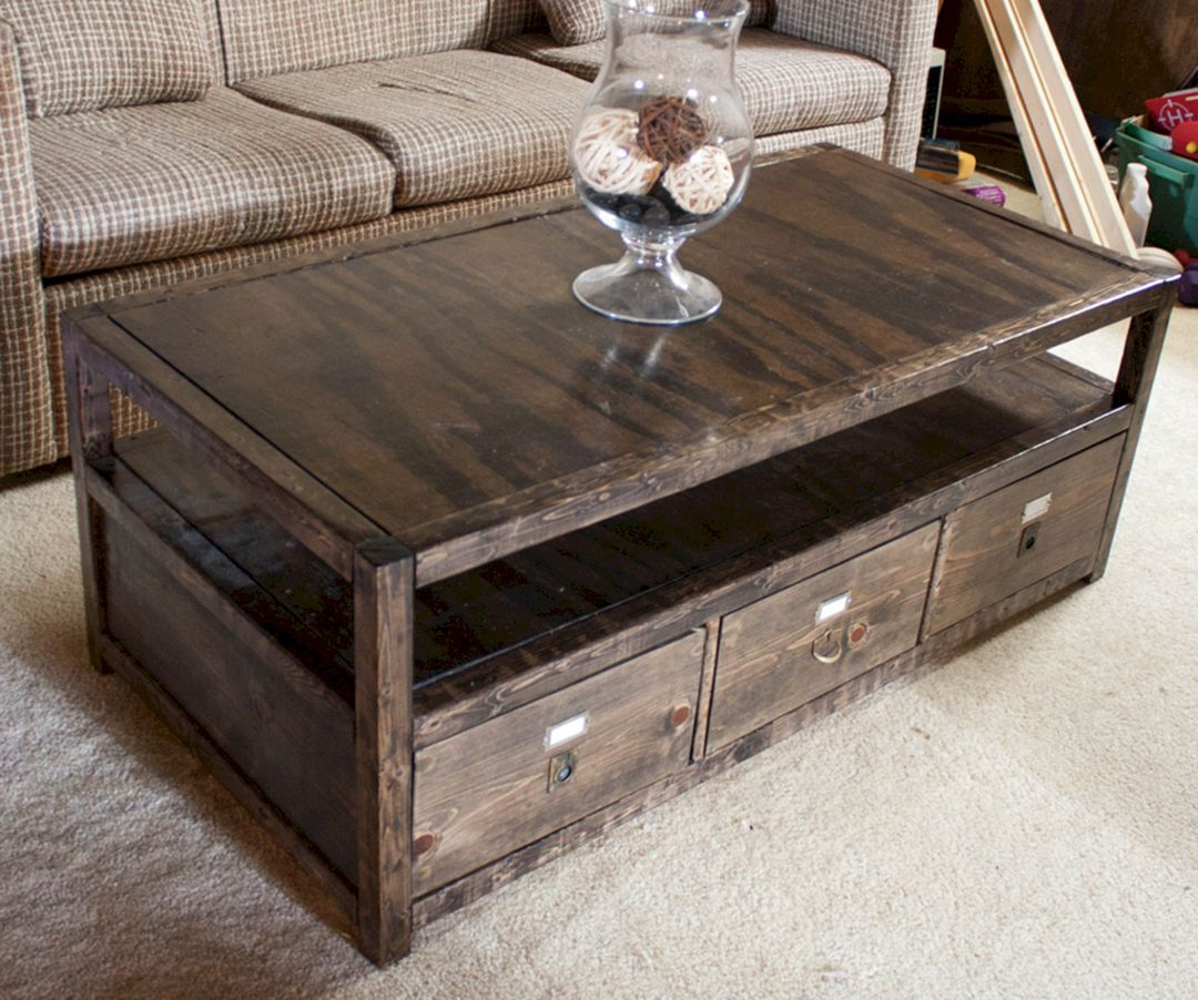 45 modern and simple coffee table models in your living