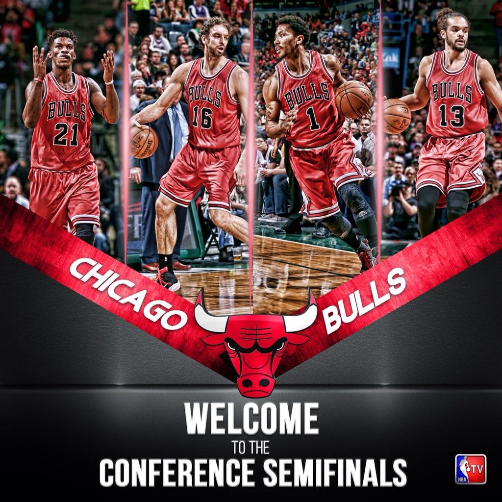 CHICAGO BULLS TO THE CONFERENCE SEMIFINALS Chicago bulls
