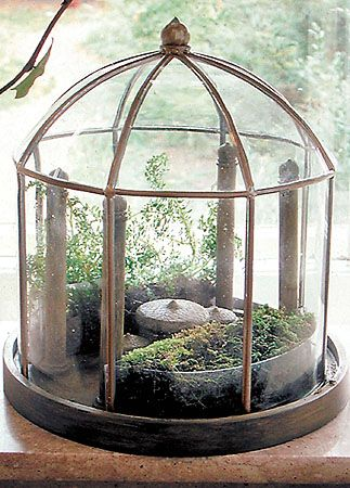 terrarium miniature greenhouse arboretum conservatory lll houses castles for miniature. Black Bedroom Furniture Sets. Home Design Ideas