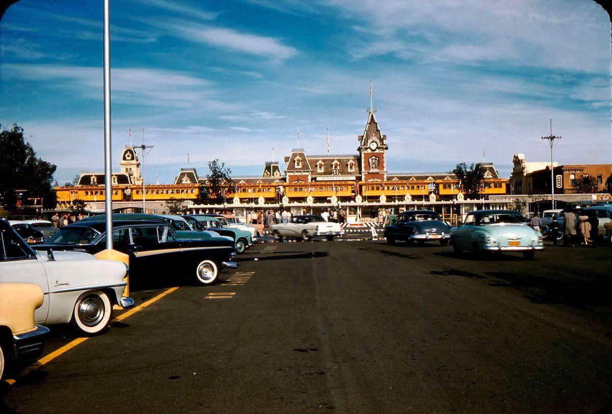 Disneyland Entrance - 1957 Cool Cars In