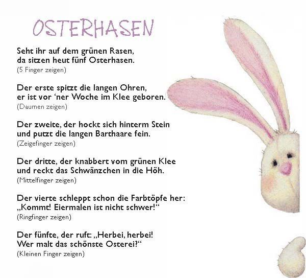 Osterhase Fingerspiel Reim Kindergarten Erzieherin Ostern Erzieherin Fingerspiel Kindergarten Osterhase In 2020 Ostern Lieder Ostern Kindergarten Ostergedichte