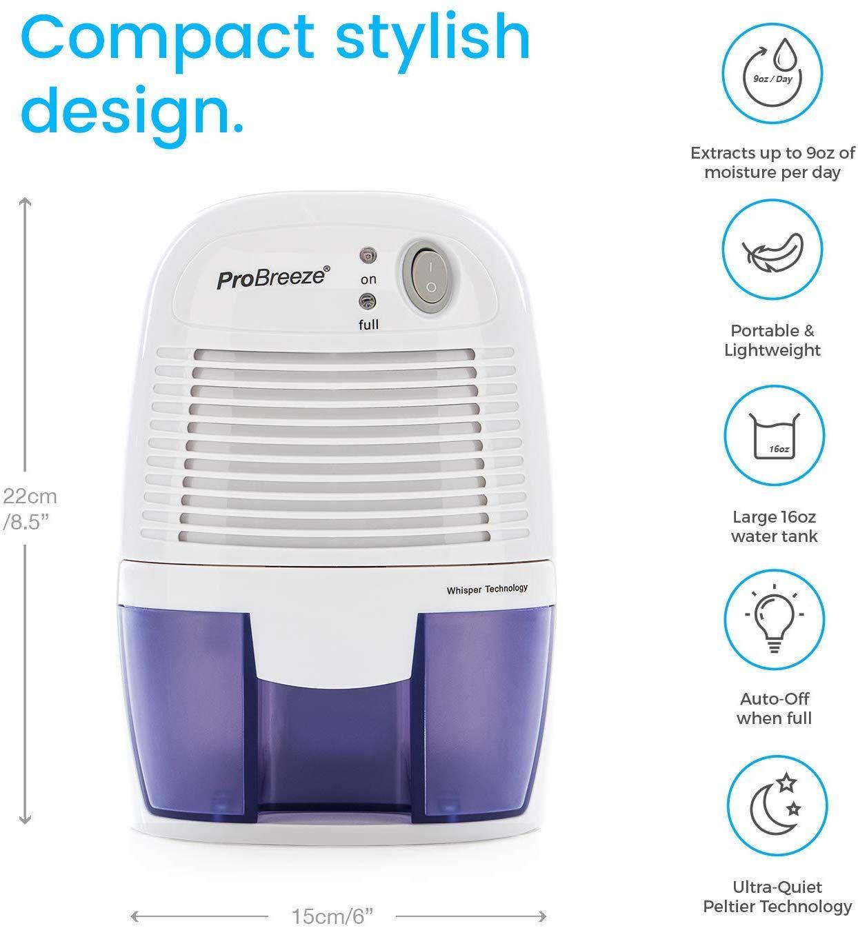 Home Kitchen Bedroom Bathroom Basement Caravan Office Rv Garage With Auto Shut Off In 2020 Mini Dehumidifier Dehumidifiers High Humidity