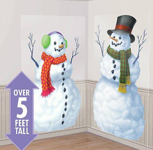 Snowmen Scene Setter Christmas Holiday Winter Party Wall Decor Kit 5