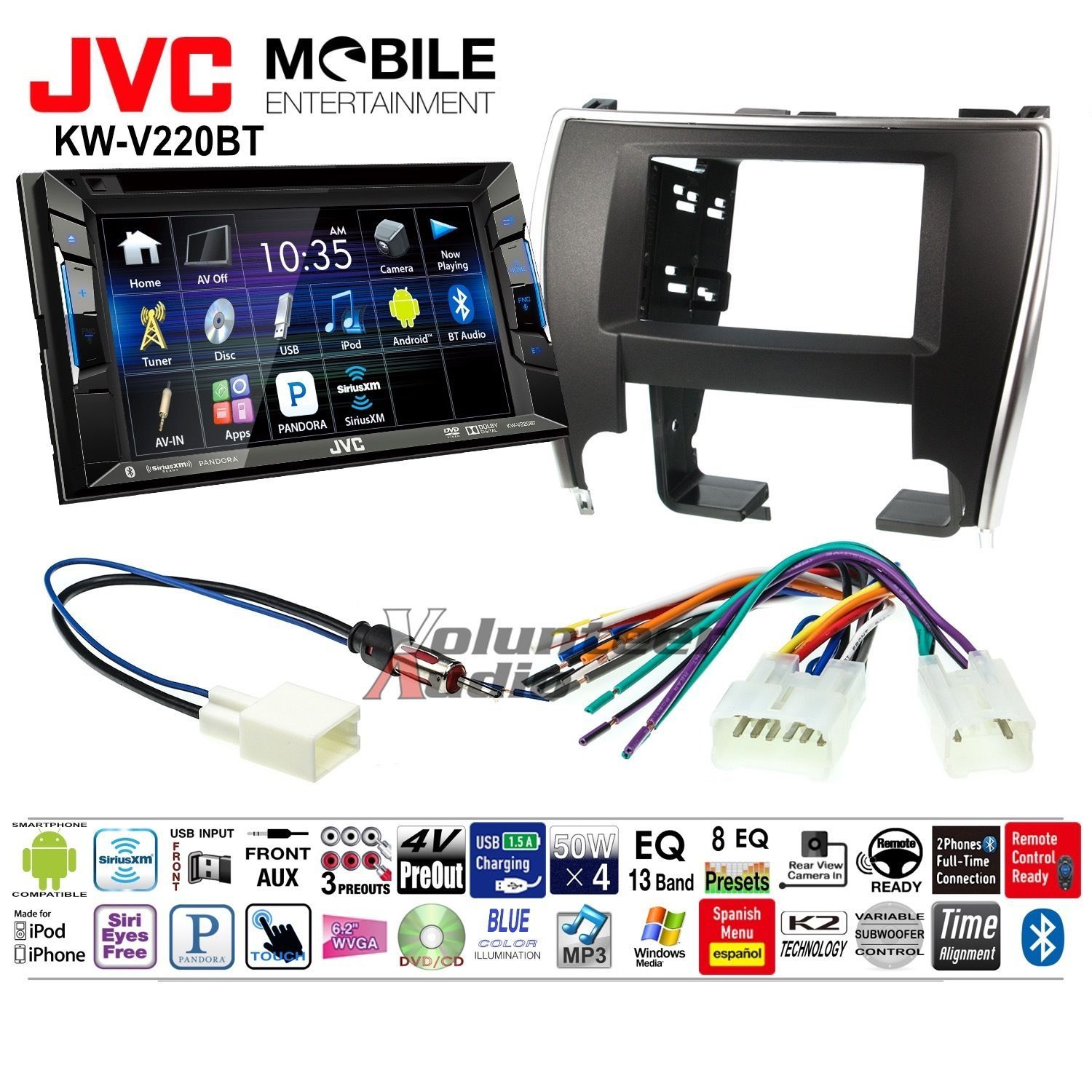 Nice Great Jvc Double Din Dvd Cd Player Car Radio Install Mount Kit Wiring Harness Bluetooth 2017 2018