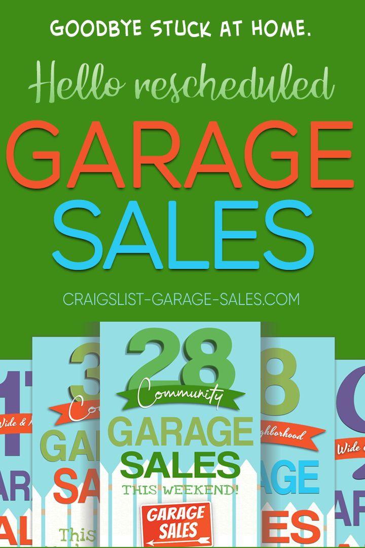 Calendar of citywide and neighborhood garage sales in