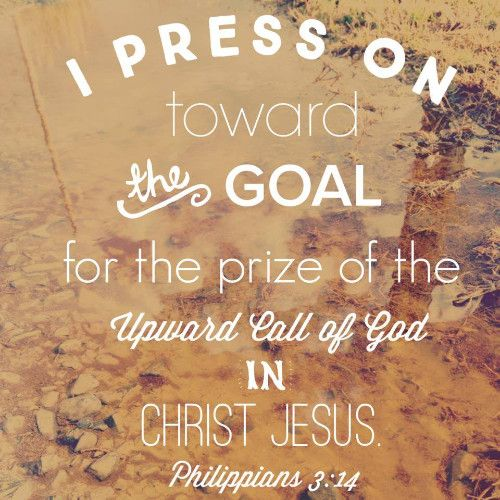 Brothers, I do not consider that I have made it my own. But one thing I do: forgetting what lies behind and straining forward to what lies ahead,  I press on toward the goal for the prize of the upward call of God in Christ Jesus.  Philippians 3:13-14