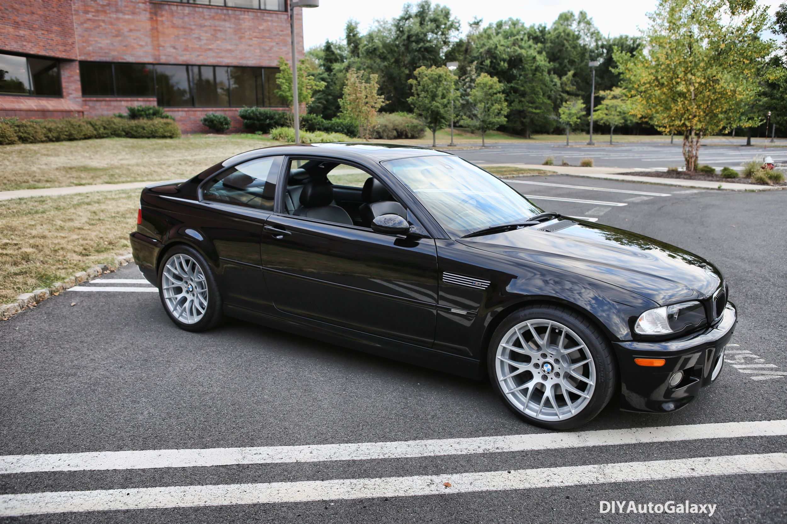This Jet Black Bmw E46 M3 Is Just Mean Sitting On 19 1m Wheels