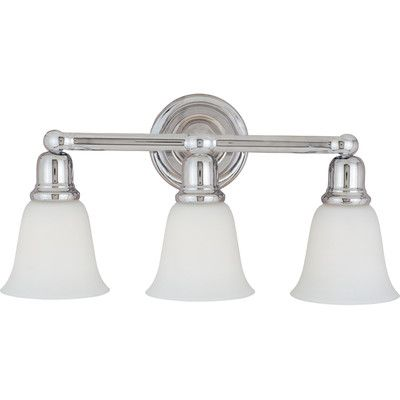 Alcott Hill Sherrard 3 Light Vanity Light Finish/Shade Color: Soft vanilla/oil rubbed bronze